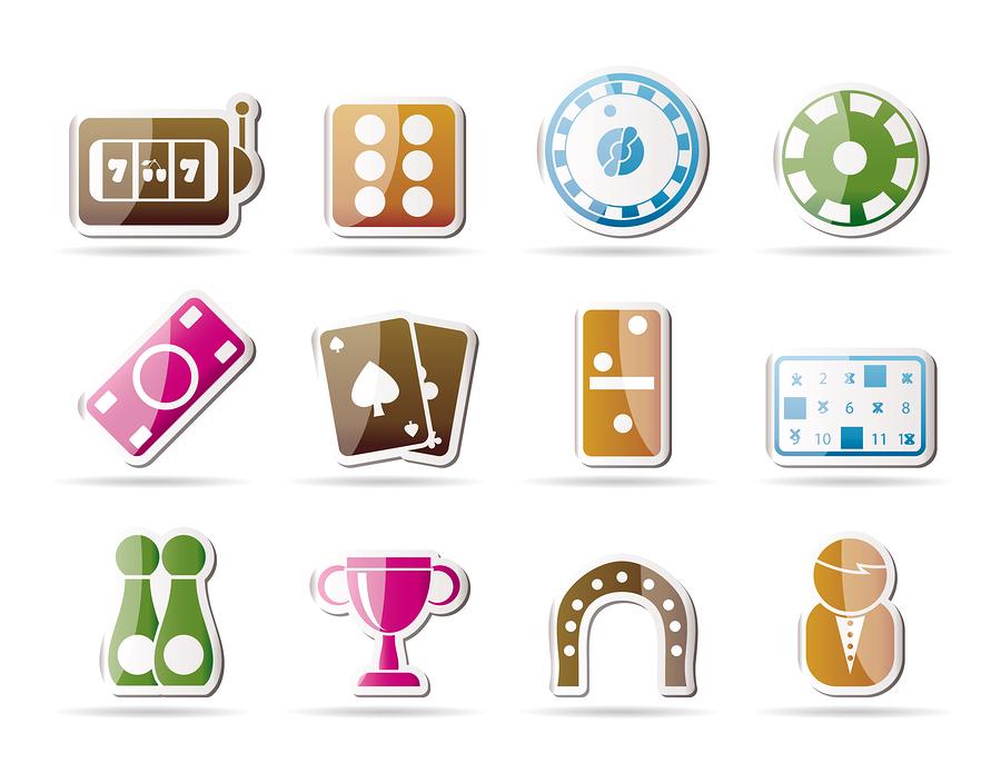 bigstock gambling and casino Icons 10038953 Spela på casino